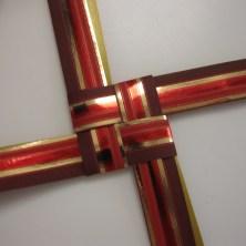 Rødt gavebånd til julestjerner