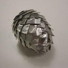 Hjemmelavet julepynt - Sølv kogle