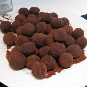 Sunde konfektkugler, rullet i kakao