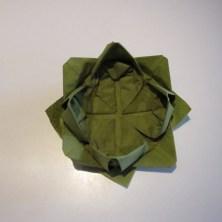 grøn Lotus serviet