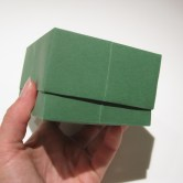 Fold en aflang æske med låg