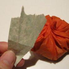 Hjemmelavede slikpakker som halloween græskar - trin 5