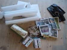 Materialer til hjemmelavet ligpose - halloween pynt
