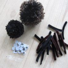Materialer til pompon edderkopper