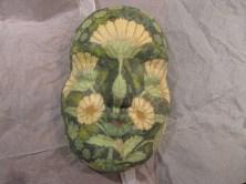 Maske af papmache med servietdecoupage
