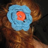 hæklet blomst hårpynt E