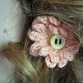 hæklet blomst hårpynt3