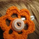 hæklet blomst hårpynt5