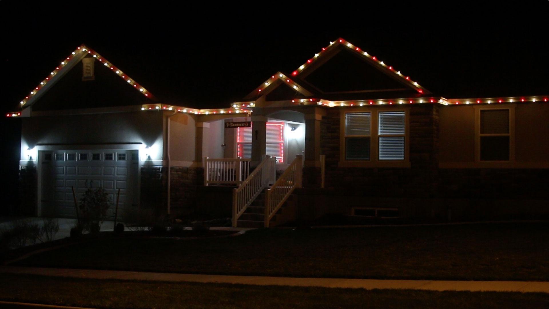 pvc christmas light setup