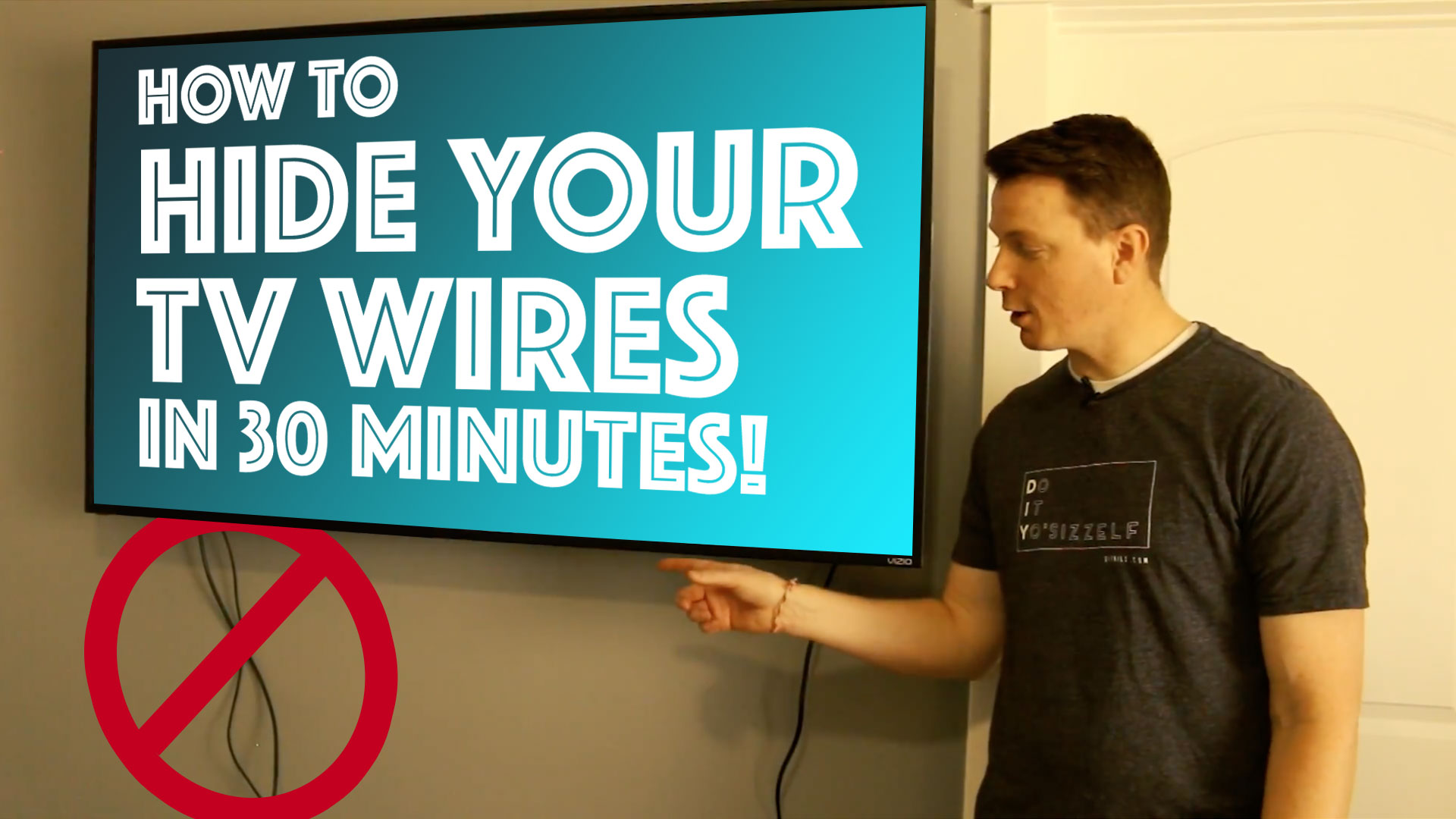 How to Hide Your TV Wires in 30 Minutes – DIY Home Improvement and ...