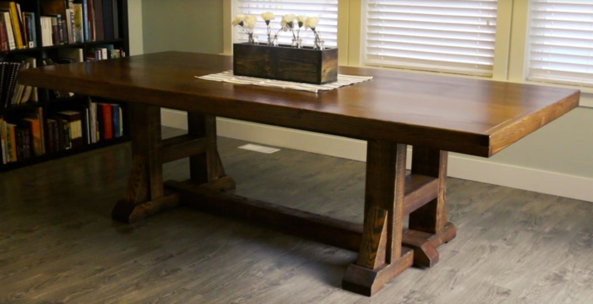 DIY Kitchen / Dining Table - Pottery Barn Inspired