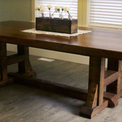 DIY Pottery Barn Inspired Dining Farmhouse Table