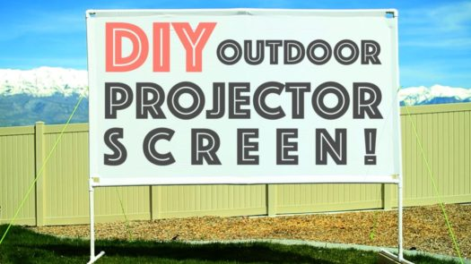 DIY Outdoor Projector Screen