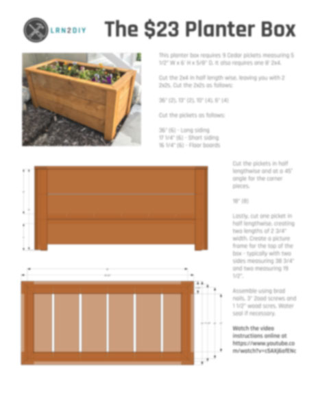 23 Diy Planter Box Diy Home Improvement And Projects Lrn2diy