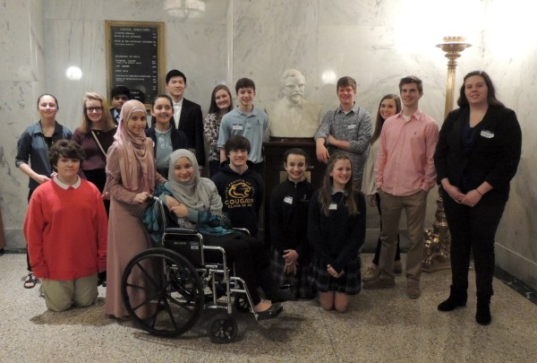 LRSEF Students at the KY State Capitol