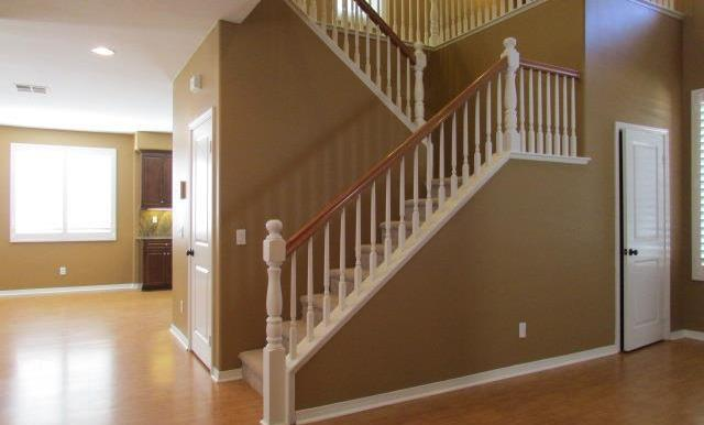 One deep closet and one coat closet under the stairs.
