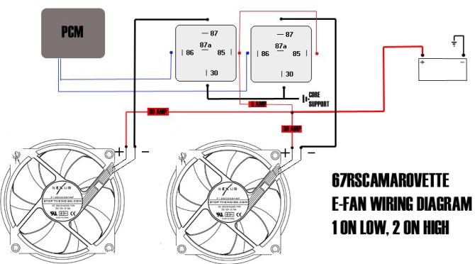 aftermarket electric fan wiring  ls1tech  camaro and
