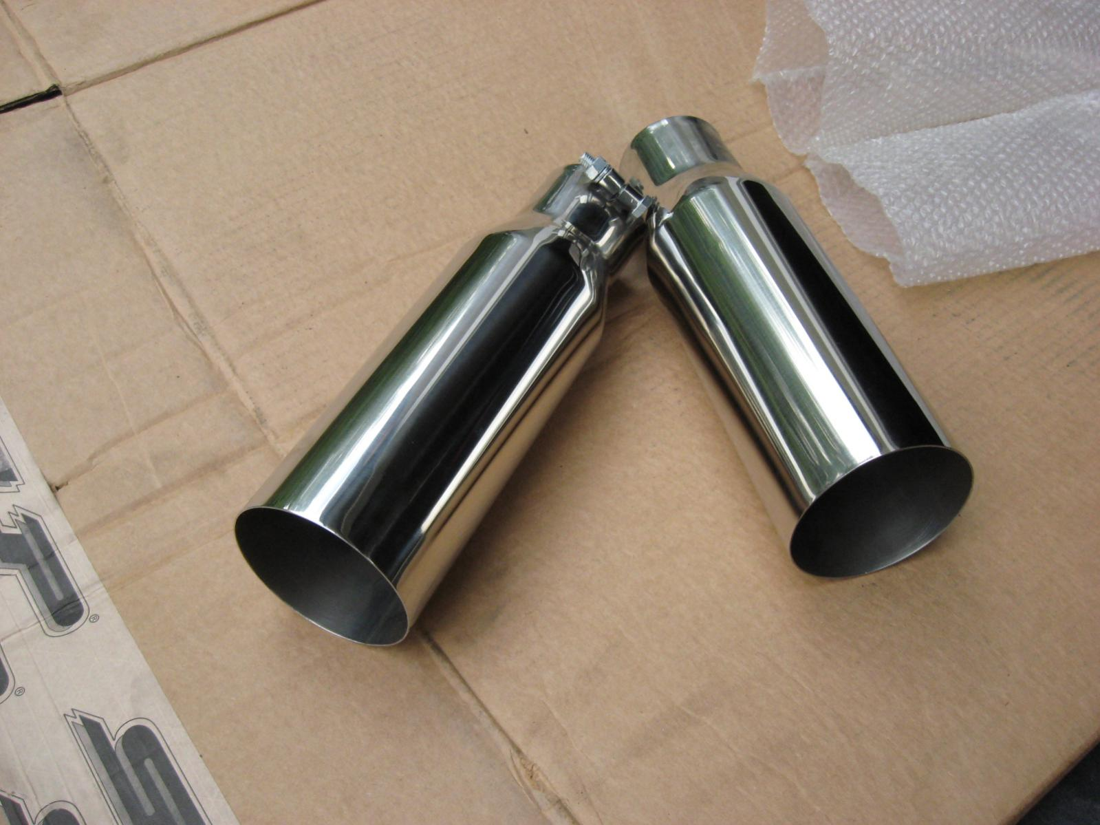 hooker 3 5 inch chrome exhaust tips and
