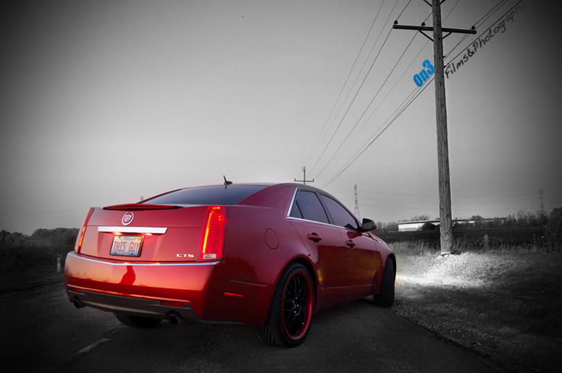 2008 Crystal Red Cadillac CTS WCustom Painted Color