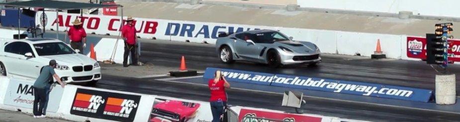 Drag Race C7 Corvette Z06 Brakes Early Still Crushes Bmw Ls1tech