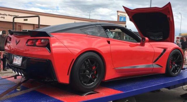 LS1tech.com blown stroked LT1 416 c.i. C7 Corvette dyno run 800whp