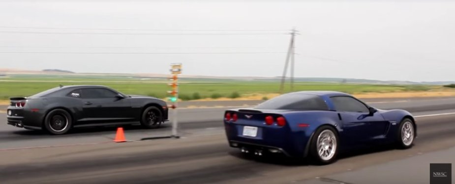 C6 Corvette Z06 Takes On Fifth Gen Camaro Zl1 Ls1tech Com