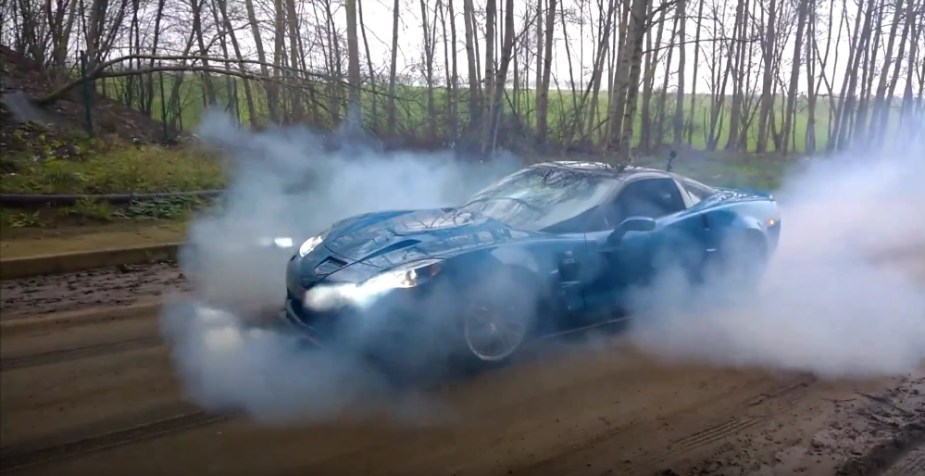 Corvette ZR1 Burnout on Dirt