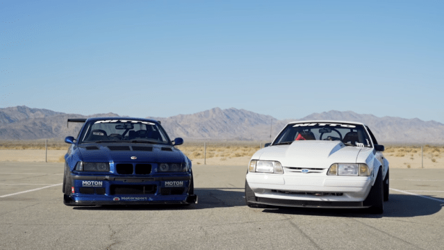 LS e36 supercharged fox body 302 track battle driver mod