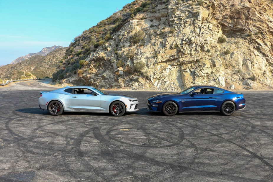 Chevrolet Chevy Camaro SS 1LE vs. Ford Mustang GT Performance Pack Comparison Review 2018 2019 Muscle Cars Sports Cars America American LS1tech.com Jake Stumph
