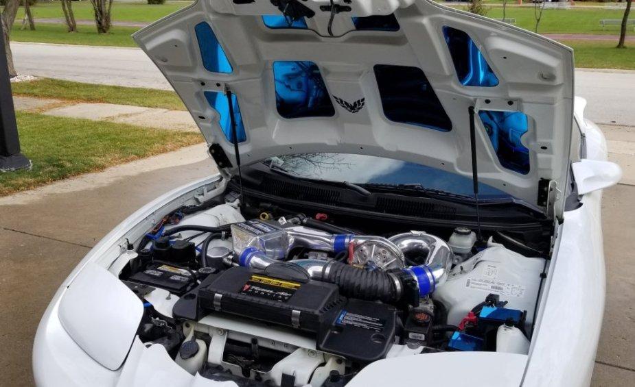 2002 Pontiac Firebird Trans Am Engine Bay