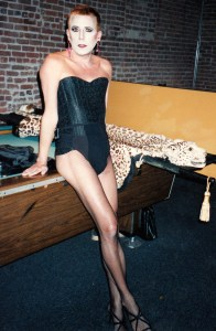 One last drag, 1995. Backstage at the Rococo Club waiting to get dressed.