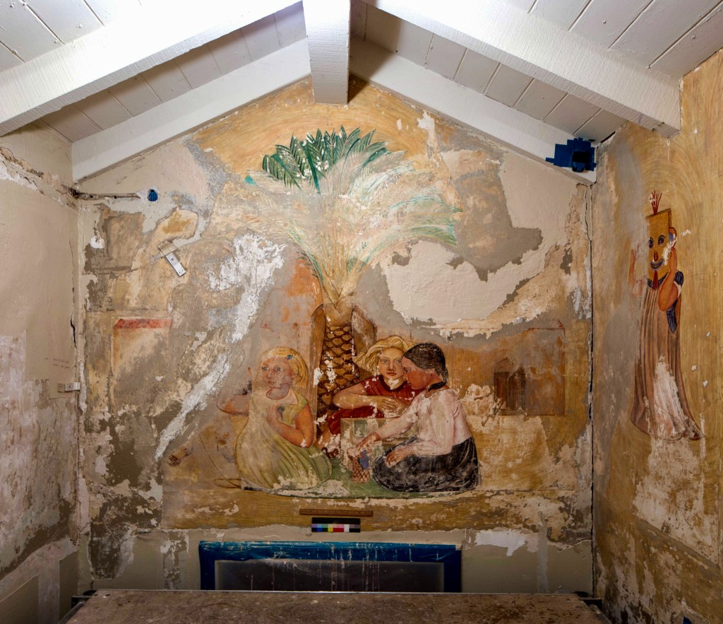 Destroy the Children: this Stackpole mural was deemed too far gone to save.