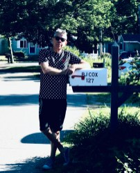 Gay Pride Day in New England began with a friendly call on Marilyn's next door neighbors.