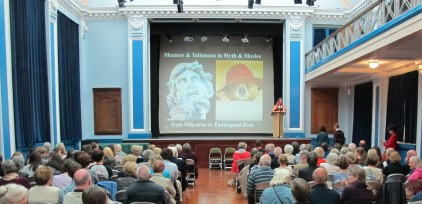 Myths and Movies Lecture - Katrina introducing Caroline Lawrence