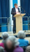Professor Paul Cartledge talking to the LSA CA