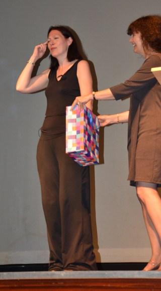 Natalie Haynes predicting the winner of the raffle