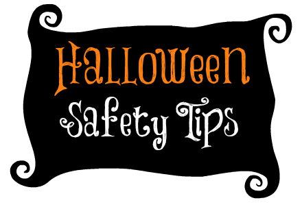 Banner with the words Halloween Safety Tips