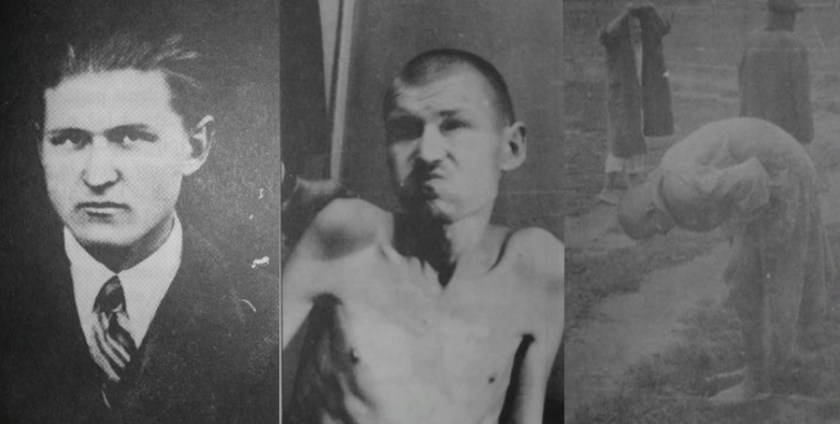 Klemens Ostrowski in 1947, left, and in 1957, middle and right, after release from communist concentration camp; list M Głuchowskiej i L Borkowskiego do Premiera 10 grudnia 2017
