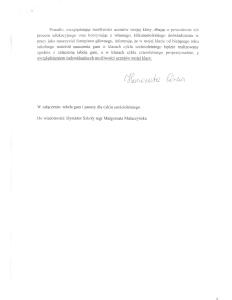 Pismo H. Górnej do Małgorzaty Głuchowskiej, kierownik sekcji pianistycznej PSM w Zielonej Górze, 14 września 2011, strona 2