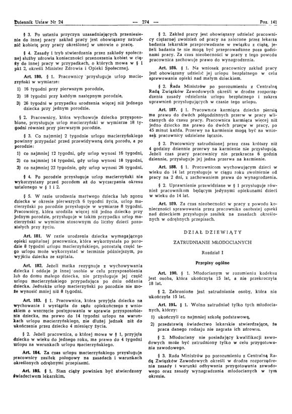 Kodeks Pracy 1974, strona 18