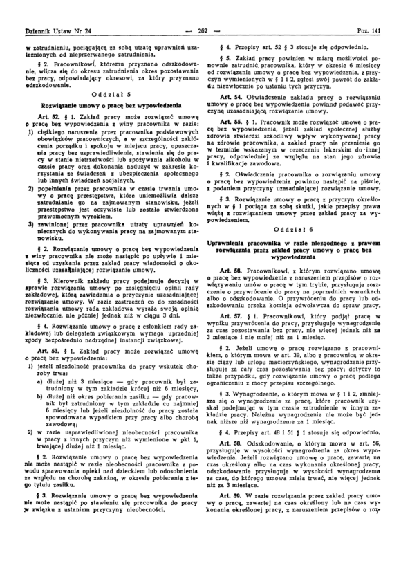 Kodeks Pracy 1974, strona 6