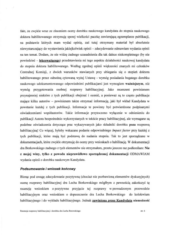 Ryszard Tadeusiewicz, recenzja habilitacji LSB, strona 6