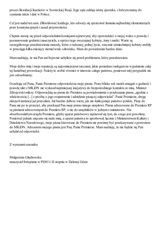 Małgorzata Głuchowska, list do Jarosława Kaczyńskiego 2 grudnia 2012, strona 5