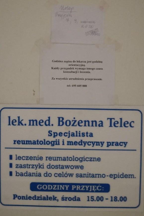 Bożenna Telec, pokój 112A, biurowiec przy ul. Westerplatte w Zielonej Górze