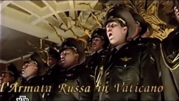 Red Army Choir performing in the Vatican on 15 October 2004