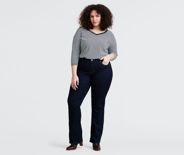 315 Shaping Boot Cut Jeans Plus Size