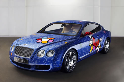 Bentley Continental GT gestaltet von Romero Britto