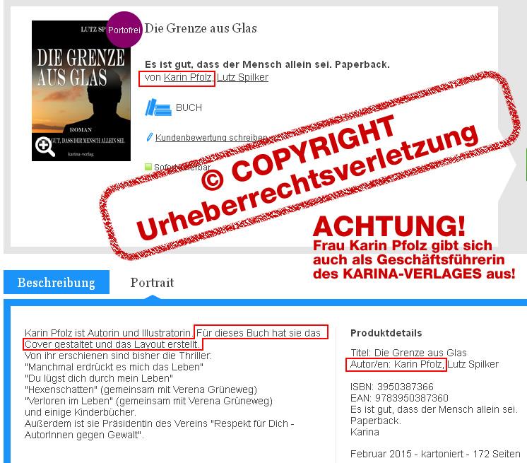 Urheberrechtsverletzung von Karin Pfolz