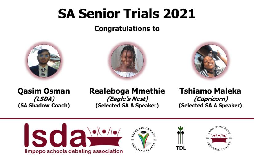 Results from SA Senior Trials