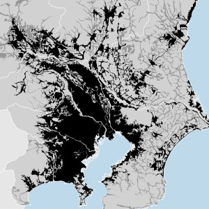 Tokyo, Japan - density map